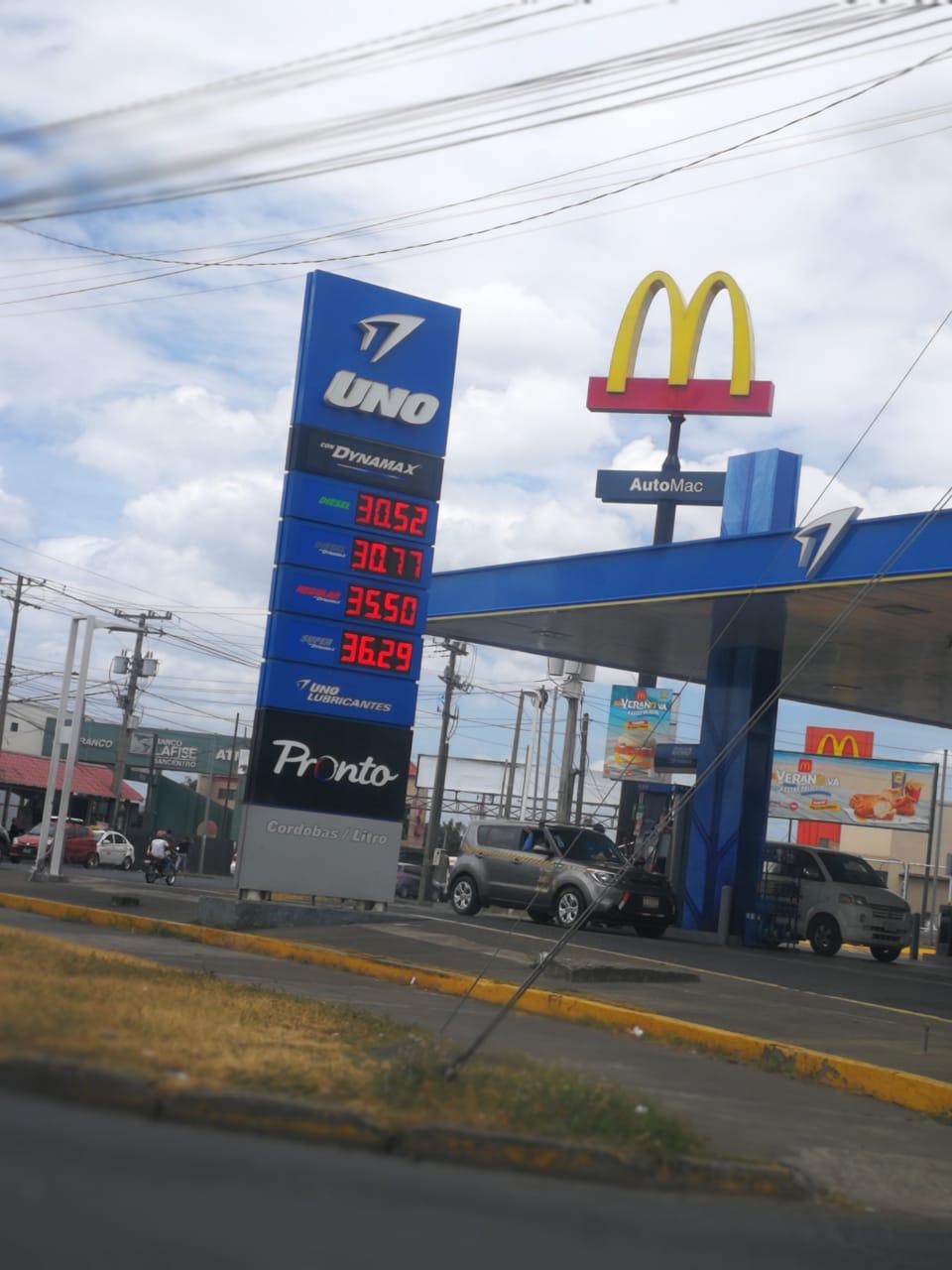 Precios actuales de los combustibles en la capital