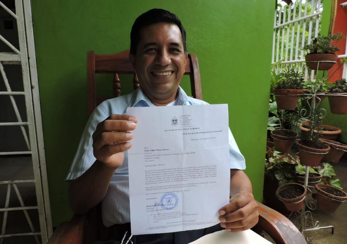 Pedro Pablo Mojica, docente universitario despedido en el 2018