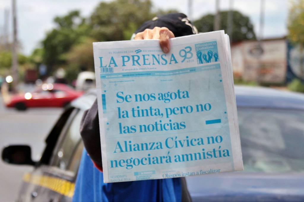Retienen materia prima de La Prensa Foto Cortesia